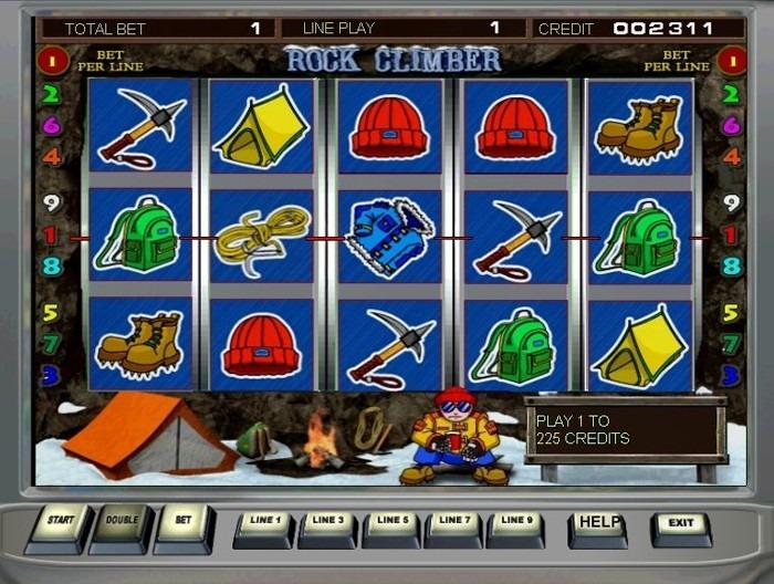 Играть в автомат Скалолаз на деньги