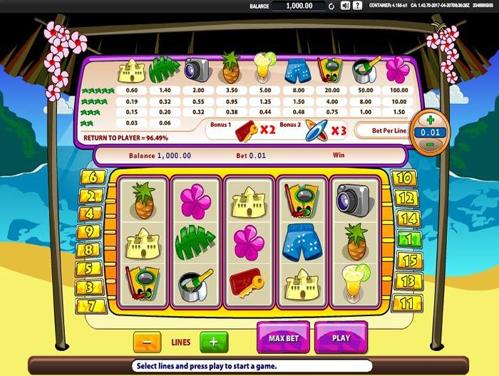 Играть в аппарат Райский Люкс на реальные деньги