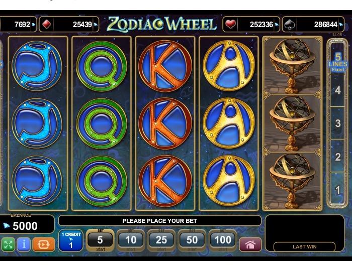Игровой онлайн автомат Zodiac Wheel
