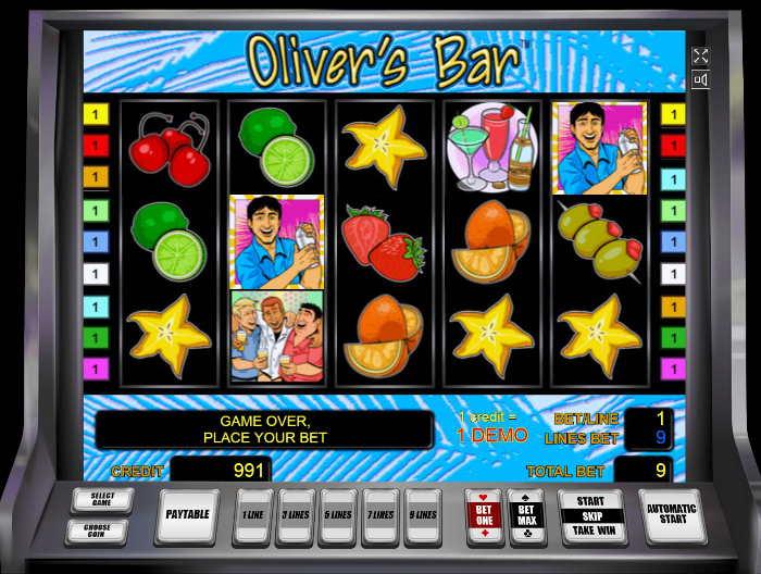 Играть в Оливер Бар на деньги